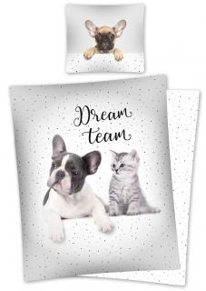 Povlečení Sweet Animals Dream Team 140/200, 70/80